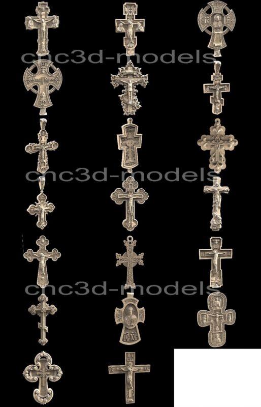 3D STL Models for CNC Router Engraver Carving Artcam Aspire Collection Cross 281