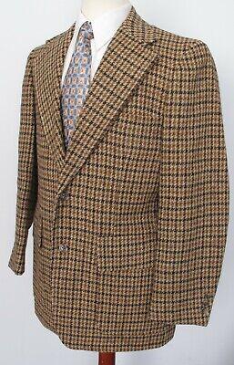Harris Tweed Vintage Tweed by The Peddler Brown Houndstooth Half Lined 41R
