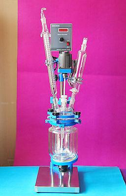 2lglass Jacket Reactor2000ml Reaction Kettlenew Chemistry Glassware