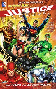 JUSTICE LEAGUE Vol 1 : ORIGIN Trade Paperback Graphic Novel DC Comics NEW 52