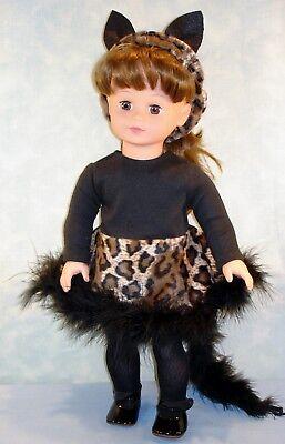 18 Inch Doll Clothes - Black Cat Halloween Costume handmade by Jane Ellen  - Halloween Costumes Ellen