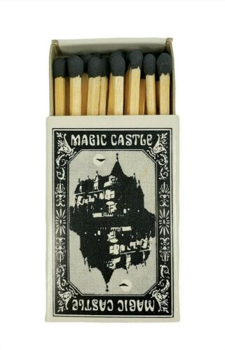 The Magic Castle Hollywood CA Matchbox Matches Black Tip Unused Vintage 1960