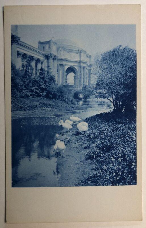 Palace of Fine Arts Marina RPPC San Francisco PPIE California 1915 cyanotype