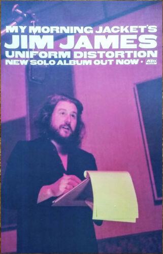 JIM JAMES Uniform Distortion Ltd Ed RARE Tour Poster +Sticker! MY MORNING JACKET