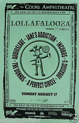 LOLLAPALOOZA 2003 SAN DIEGO CONCERT POSTER-Jane's Addiction, Incubus, Audioslave