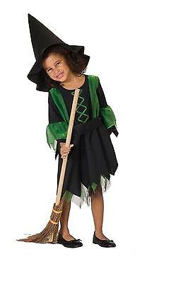 Hexenkleid (ohne Hut und Zubehör) - Größe: 128 - Halloweenverkleidung - Karneval