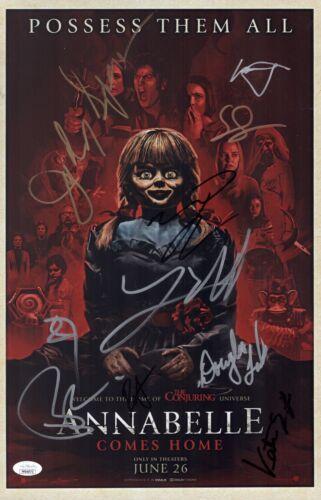 James Wan ANNABELLE COMES HOME Cast X10 Signed 11x17 Photo Autograph JSA COA