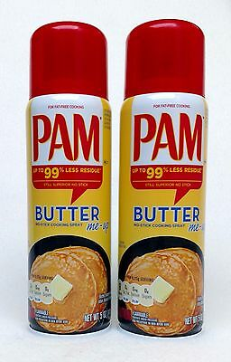 Fat Free Butter Spray - 2 PAM BUTTER No-Stick Fat Free Cooking Spray 5 oz
