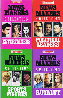 Newsweek News Makers Collection Political Leaders  Entertainers  Royalty  Sports