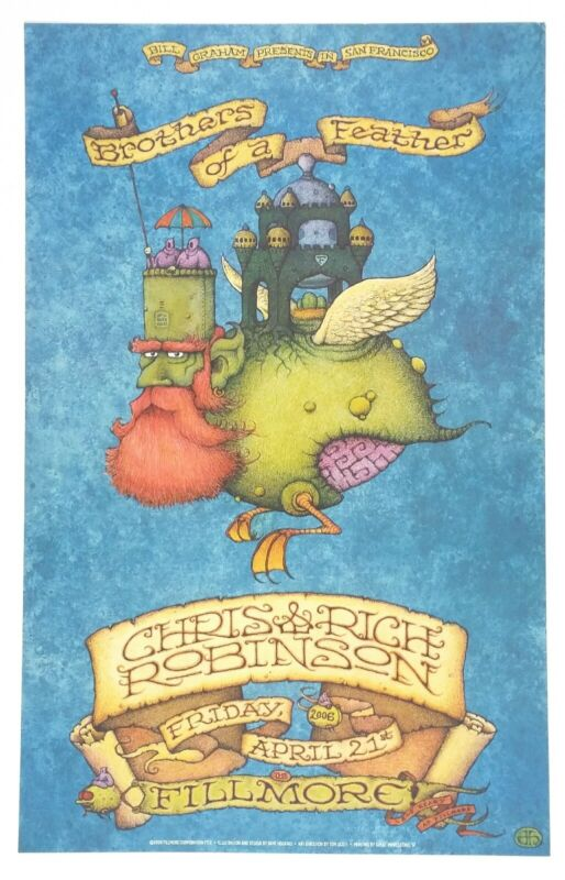 Brothers of a feather original SF Fillmore poster. 2006 tour