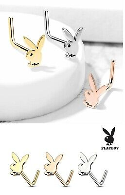 Playboy Bunny 316L Surgical Stainless Steel Nose Bone Stud Pin Ring 316l Surgical Steel Nose Bone