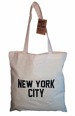 Cotton Tote Bag (NYC Tote Bag New York City 100% Cotton Canvas)