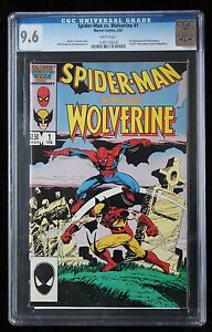 SPIDER-MAN VS WOLVERINE #1 CGC 9.6 WHITE PAGES - 1ST APPEARANCE
