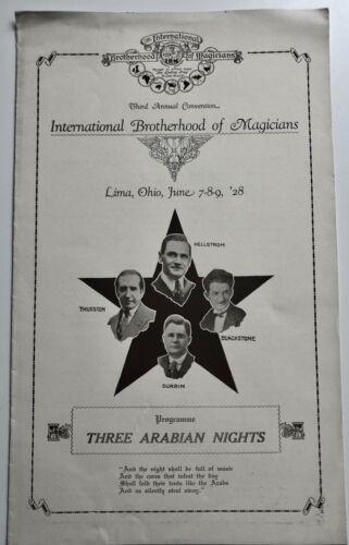 INTERNATIONAL BROTHERHOOD OF MAGICIANS 3RD ANNUAL CONVENTION PROGRAM - 1928