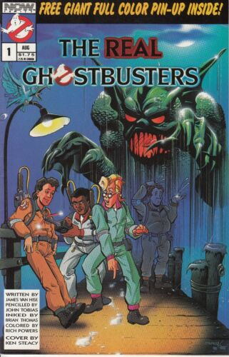 Now Comics The Real Ghostbusters #1 & 7, 1st Ghostbusters, VF/NM condition!
