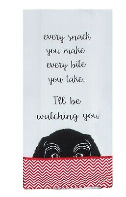 Kay Dee Designs YOUR DOG WILL BE WATCHING YOU Cotton Kitchen Tea Towel