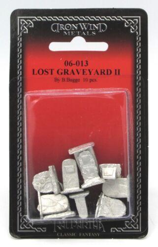 Ral Partha 06-013 Lost Graveyard II (10) Miniatures Cemetery Terrain Tombstones