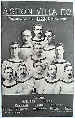 ASTON VILLA F.C. 1905 F.A CUP WINNERS – VINTAGE FOOTBALL POSTCARD