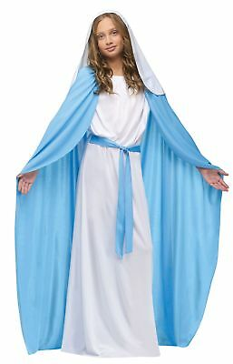 Biblical Virgin Mary Costume Girls Child Religious Christmas Halloween - Bible Costumes For Girls