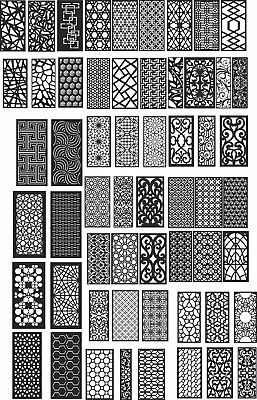 Dxf Of Plasma Router Laser Cut -cnc Vector Dxf- Art File 500 Items