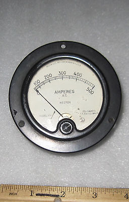 Weston Panel Meter 0-500a Ac Tested