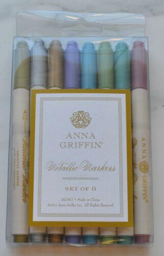 Anna Griffin Metallic Markers 8 Piece Set NEW