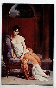 BARON GERARD Madame Recamier Seminude Lady PC Circa 1917 FRANCIA - Italia - Very happy or money back, no question asked! - Italia