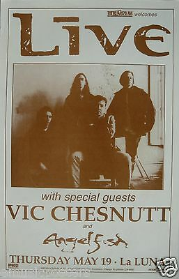 LIVE / VIC CHESNUTT / ANGELFISH 1995 PORTLAND CONCERT TOUR POSTER - Rock Music