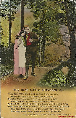 The Dear Little Shamrock (3) Ireland Bamforth song card Blockley London 4661/3