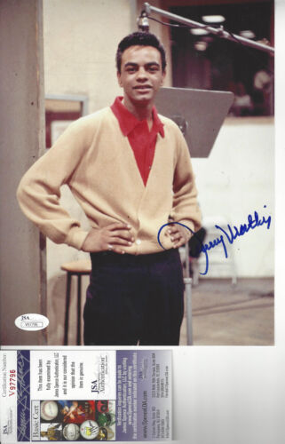 Singer Johnny Mathis  autographed 8x10 color photo JSA Certified
