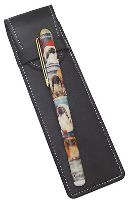 Pekingese Breed of Dog Themed Pen with Pen Case Perfect Gift