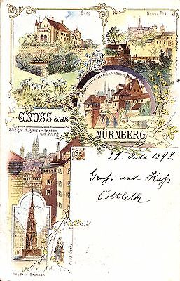 Nürnberg, Farb-Litho, 1897