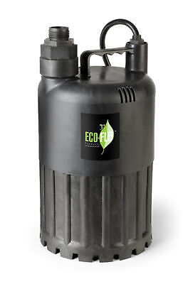 Eco Flo Sup80 12 Hp 3180 Gph Manual Submersible Thermoplastic Utility Pump