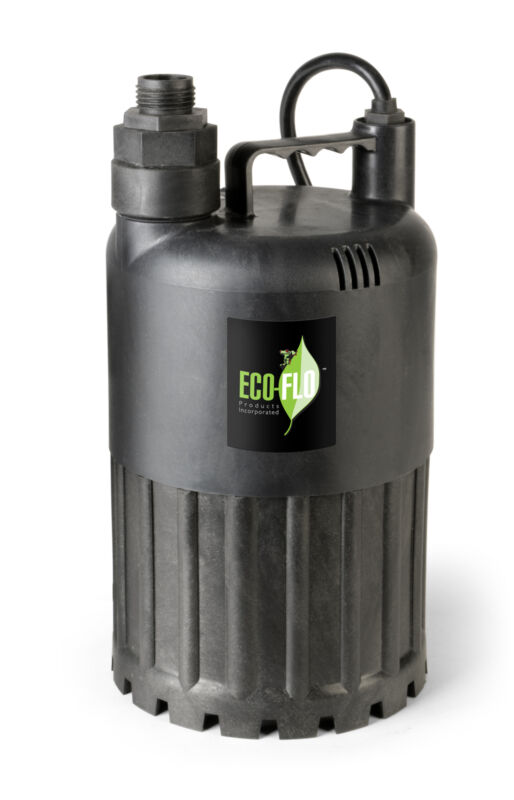 Eco Flo SUP80 1/2 HP 3180 GPH Manual Submersible Thermoplastic Utility Pump