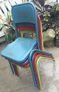 Vintage upcycled industrial metal chairs Nambour Maroochydore Area Preview