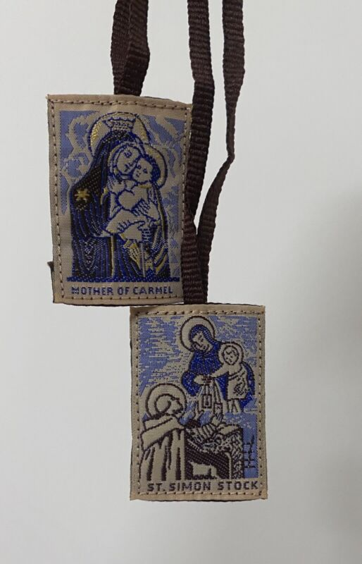 Scapular of Our Lady of Mt. Carmel (traditional) 1.2x1.6'