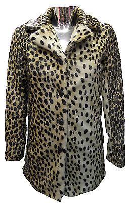Womens Ladies New WINTER Trendy Brown Animal Cheetah Print  Faux Fur Coat/Jacket Trendy Winter Coats