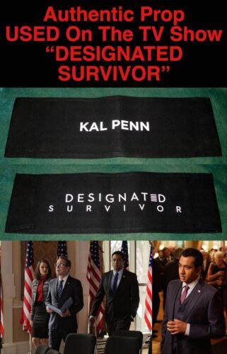 "Rare KAL PENN ""DESIGNATED SURVIVOR"" Authentic CHAIR BACK PROP A Used by KAL PENN"