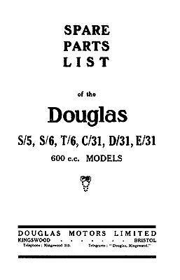 (0510) 1931 Douglas S/5 S/6 T/6 C/31 D/31 E/31 parts book