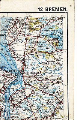 Bremerhaven Nordenham Wursten 1925 Teilkarte/Ln Schiffdorf Wulsdorf Wanna Langen