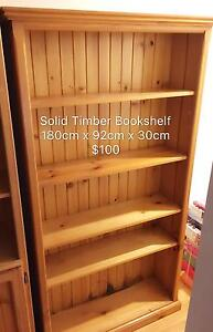 Solid Timber Bookshelf Hornsby Hornsby Area Preview