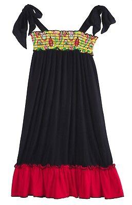 Bubblegum Divas Little Girls' Lady Bug Flower Black Casual Long Maxi Dress