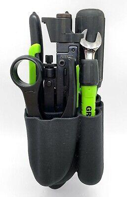 Greenlee Pro Professional 7-piece Coax Tool Kit W Belt Pack 46601 - Euc