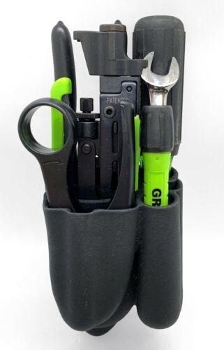 GREENLEE Pro Professional 7-Piece Coax Tool Kit w/ Belt Pack #46601 - EUC