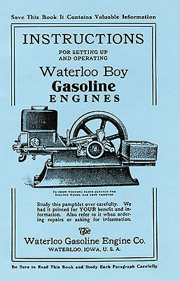 Waterloo Boy Gas Engine Motor Manual Book Hit Miss instruction John Deere part