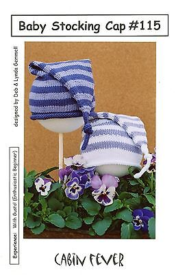 Baby Stocking Cap - Cabin Fever Knitting Pattern #115 Enthusiastic Beginner Knit
