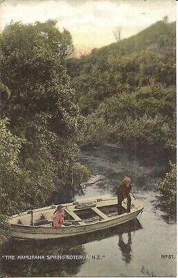 Rotorua, NEW ZEALAND - Hamurana Spring - row boat