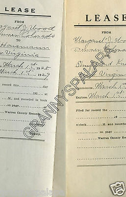 1928 1929 Lease Documents Wood Family  Colorado   Iowa  Property Contracts