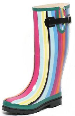 r. 36 Rainbow Gummistiefel bunt Streifen Stiefel Outdoor (Rainbow Stiefel)