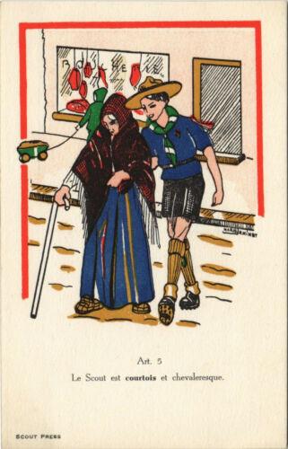 PC SCOUTING, LE SCOUT EST COURTOIS ET CHEVALERESQUE, Vintage Postcard (b28461)